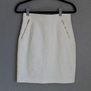 H&M White Lace Pencil Skirt - Size 8
